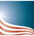 American Flag background stripes and stars vector image vector image