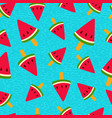 watermelon ice cream summer seamless pattern vector image