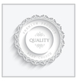 Round paper frame vector image vector image