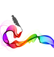 Abstract color background with wave and feather vector image
