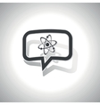 Curved atom message icon vector image