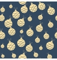 Seamless christmas garland pattern on blue vector image