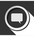 icon - speech bubble with shadow vector image