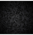 Black Seamless floral Pattern vector image vector image