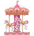 A carousel ride vector image