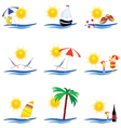 beauty summer icon vector image