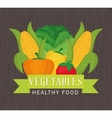 Farm fresh design organic food icon Colorful vector image