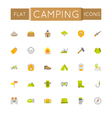 Flat Camping Icons vector image
