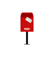 Red mail post box isolated vector image
