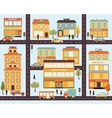 Set of buildings in the style small business flat vector image