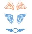 Stylized Bird wings vector image