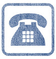tone phone fabric textured icon vector image