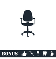 Office chair icon flat vector image