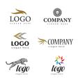 logo fur salon vector image