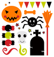 Cute design elements for Halloween vector image vector image