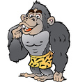 Cartoon of a Strong Gorilla vector image
