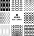 Black abstract pattern collection vector image vector image