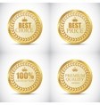 Gold Quality Label Set vector image vector image