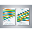Abstract Brochure Flyer design with color ribbons vector image