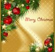 art card for Christmas vector image