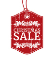 Christmas sale label vector image