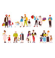 collection of happy people carrying their vector image