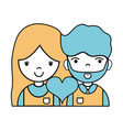 couple with beauty relation ships and heart vector image