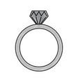 diamond engagement ring icon image vector image