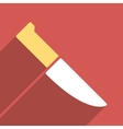 Knife Flat Longshadow Square Icon vector image