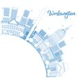 Outline Washington DC Skyline vector image