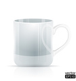 Realistic Cool white cup vector image