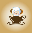 sheep logo coffee vector image