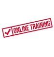 Online training stamp vector image vector image