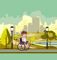 disabled person in a city park vector image