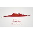 Houston skyline in red vector image