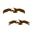 Two flying eagles with outspread wings vector image vector image