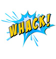 Whack flash on white vector image vector image