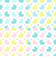 Colourful Bunnies silhouettes patterns vector image vector image