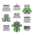 Business buildings vector image