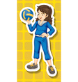 Sport girl vector image vector image