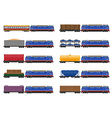 set icons railway train 02 vector image vector image