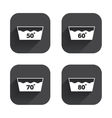 Wash icons Machine washable at sixty degrees vector image