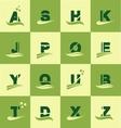 Alphabet logo icon set letter vector image