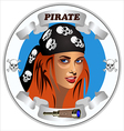 icon girl pirates vector image