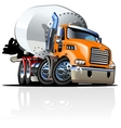 Cartoon Mixer Truck one click repaint option vector image