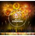 bllured holiday firework background vector image