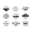 Car service emblems vector image