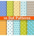 Different dot seamless patterns tiling vector image