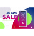 iphone x sale banner vector image