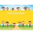 kids bunner around square banner vector image